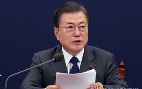1月21日,在韓國總統府青瓦台,總統文在寅主持召開國家安全保障會議(NSC)全體會議。 (圖源:韓聯社)