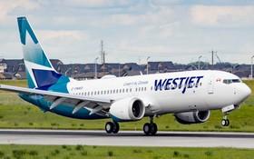 加拿大西捷航空公司的一架波音737 MAX客機。(圖源:Shutterstock)