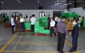 前江果蔬採購與經銷中心一隅。