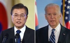 韓總統文在寅與美總統拜登(右)同意加強韓美同盟。(圖源:Getty Images)
