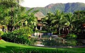 The Anam度假村環境綠化且優美。