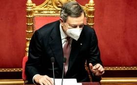 意大利總理德拉吉在參議院發表首次公開講話。(圖源:互聯網)