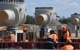 """北溪-2""""天然氣管道項目建設工地。(圖源:Sputnik)"""