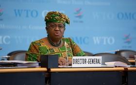 3月1日,在瑞士日內瓦,恩戈齊·奧孔喬-伊韋阿拉出席世界貿易組織總理事會會議。(圖源:新華社)