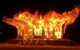 韓國千年古寺遭僧人縱火,整座寶殿被燒光。(圖源:互聯網)