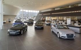 各汽車展示室日趨現代化以吸引客戶的關注。
