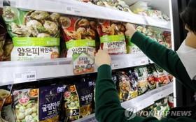 首爾一家超市的速凍餃子櫃檯。(圖源:韓聯社)