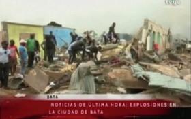 赤道幾內亞一個軍營發生一系列爆炸事件,至少有20人死亡,600人受傷。 (圖源:視頻截圖)