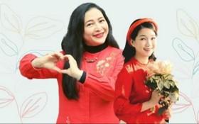 華人女企業家龐美玲(右)。