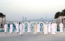 阿聯酋領導出席《2040 年迪拜城市規劃》公佈儀式。(圖源:互聯網)