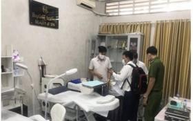 檢查團對該髮廊進行突檢時現場。(圖源:市衛生廳)