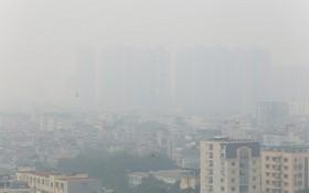 昨(14)日上午9時,河內市空氣質量指數達中至劣等。(示意圖源:嘉政)