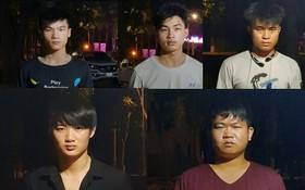 非法入境的5名中國籍人員被職能力量查獲並拘留。(圖源:警方提供)