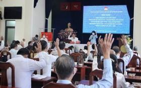 第一次協商會議通過國會代表及市人民議會代表候選人名單。(圖源:梅花)