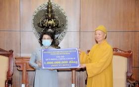 市越南佛教教會理事會捐 10 億元給防疫基金