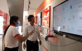 QTSC博物館設有介紹世界各種科技趨勢和讓參觀者互動體驗各種高新科技的區域。(圖源:越通社)