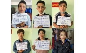 被抓獲的6偷竊歹徒。(圖源:警方提供)