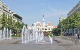 圖為第一郡阮惠步行街一瞥。(圖源:旅遊總局)