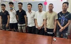 被捕的網上放高利貸團夥。(圖源:警方提供)