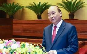 阮春福總理在會上致詞。(圖源:越通社)