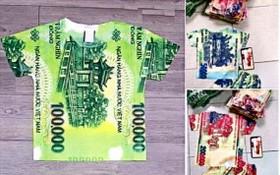 印有貨幣圖案的衣服在社交網上出售。