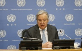 聯合國秘書長古特雷斯。(圖源:新華社)