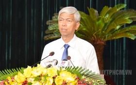 市人委會副主席武文歡在會議上發表講話。(圖源:市黨部新聞網)