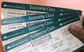 圖為越航機票。(圖源:VNE)