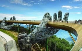 峴港佛手金橋是吸引遊客的景點。
