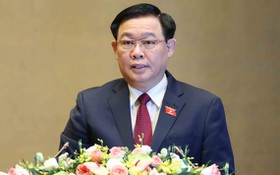 國會主席王廷惠致閉幕詞。(圖源:越通社)