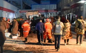 這是4月11日拍攝的新疆昌吉回族自治州呼圖壁縣雀爾溝鎮豐源煤礦事故救援現場。(圖源:新華社)