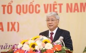杜文戰同志當選越南祖國陣線委員會主席。(圖源:越通社)