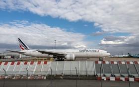 圖為在法國巴黎奧利機場拍攝的法航-荷航集團的飛機。(圖源:新華社)