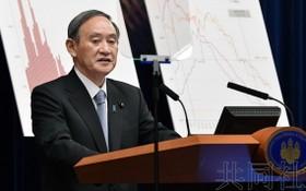 日本首相菅義偉。(圖源:共同社)