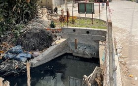 第十二郡盛祿公寓的排水道區域。