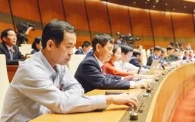國會代表按鈕表決通過《防打毒品法》(修訂)。