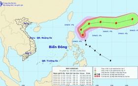 圖為舒力基超強颱風的移動方向。(圖源:國家水文氣象預報中心)