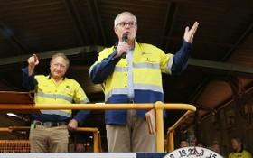 澳大利亞總理莫里森21日宣佈一項新能源計劃,投資5億4000萬澳元,用於發展氫、碳捕獲與封存(CCS)技術。(圖源:A AP)