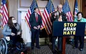 當地時間22日,美國參議院表決通過反亞裔仇恨犯罪法案。(圖源:AP)