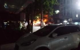 緬甸仰光萊鎮警察局爆炸現場。(圖源:互聯網)