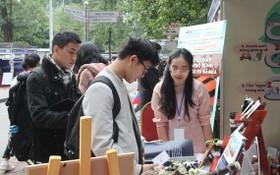 """""""大中學生與創業構思""""競賽吸引了大批學生前來參加。(圖源:蘭英)"""