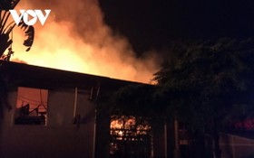 火警現場。(圖源:VOV)