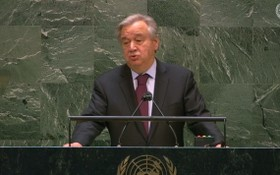 現任聯合國秘書長古特雷斯當地時間7日向會員國闡述他擔任第二個5年任期的願景。(圖源:視頻截圖)