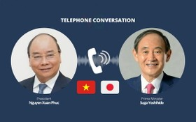 國家主席阮春福與日本首相菅義偉互通電話。(示意圖源:VGP)