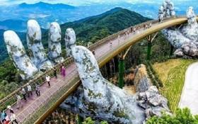 圖為馳名中外的峴港旅遊觀光景點金橋。(圖源:互聯網)