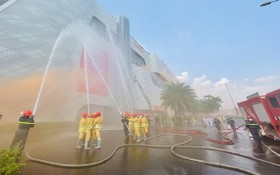 消防與救援演練現場。(圖源:文明)