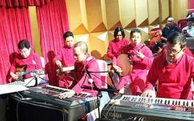 陳友莊改良劇團的樂隊。