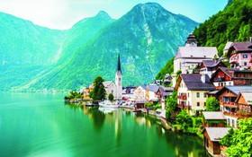 奧地利童話般的哈爾斯塔特村。