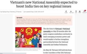 登羅伊‧喬杜里記者有關越南國會選舉的文章在印度《經濟時報》網站刊登屏幕截圖。(圖源:網站截圖)