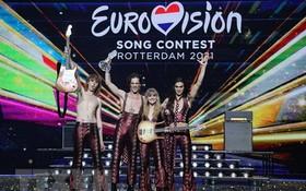 意大利搖滾樂隊Maneskin贏得了比賽冠軍。(圖源:AFP)